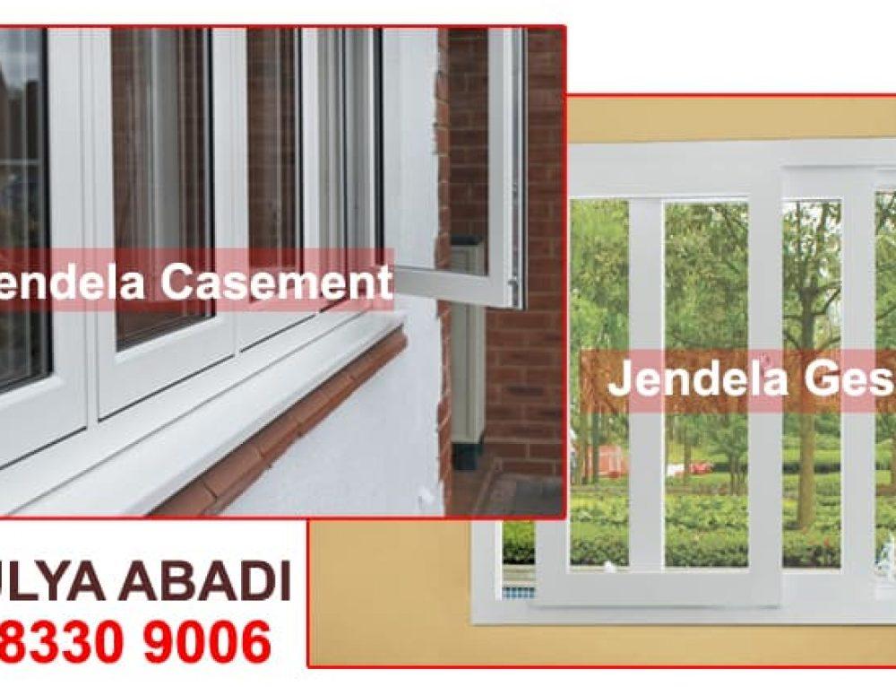 Perbedaan Antara Jendela Geser dan Jendela Casement